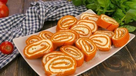 Rotolo al pomodoro: ecco come ottenere delle sfiziose girelle per l'aperitivo!