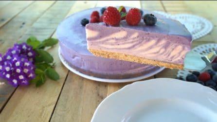 Torta gelato zebrata ai frutti di bosco: bellissima e golosa