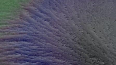 Marte, le immagini in 3D dell'interno del cratere Nicholson