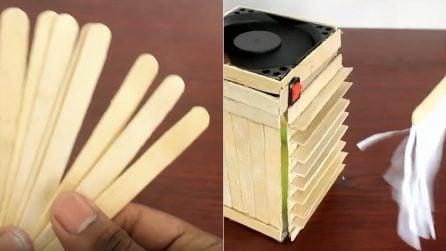 Mini condizionatore con i bastoncini del gelato: ecco come costruirlo a casa