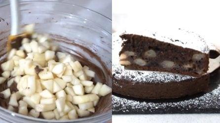 Torta cioccolato, pere e mascarpone: un sapore unico