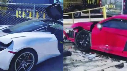 19enne guida una McLaren senza patente: distrugge un'Audi R8 nuova di zecca