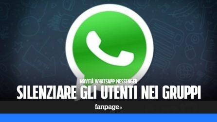 Novità WhatsApp: come silenziare gli utenti nei gruppi