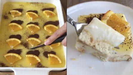 La ricetta per preparare una bella torta all'arancia con cuori di cacao