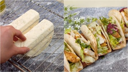Piadina tacos: how to make it at home with few ingredients!