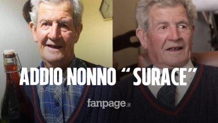 """Morto nonno Andrea di Casa Surace: """"All'anagrafe no, ma in pratica è nostro nonno. Ci mancherà"""""""