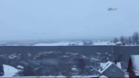 Norvegia, spaventosa frana: la voragine inghiotte alcune abitazioni