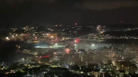 Capodanno 2021, a Napoli fuochi d'artificio in tutta la città