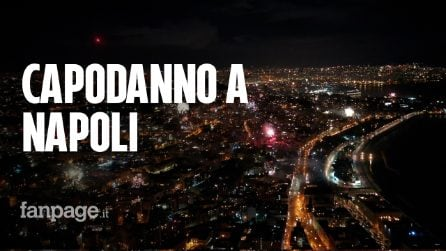 Capodanno 2021, Napoli vista dal drone: fuochi d'artificio per oltre mezz'ora per salutare il 2020
