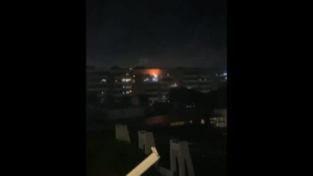 Balconi in fiamme nella notte di Capodanno a Roma