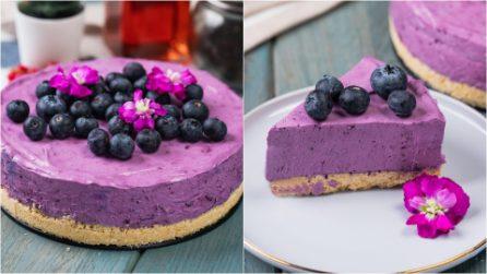Cheesecake di mirtilli: fresca e deliziosa, sorprenderà i tuoi ospiti!