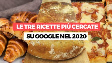 Le 3 ricette più cercate su Google nel 2020!
