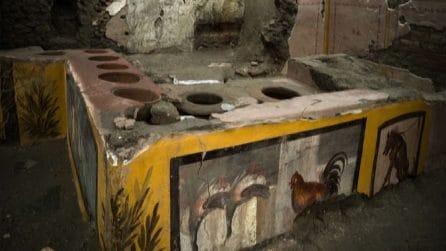 Pompei, viaggio nel termopolio riaffiorato dagli scavi