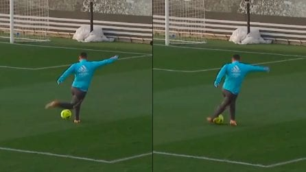 Eden Hazard incanta in allenamento: gol di rabona in corsa
