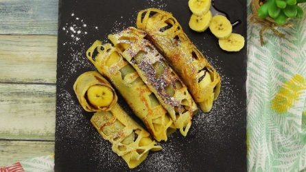 Banana arrotolata: come preparare un dolcetto goloso in pochi minuti!