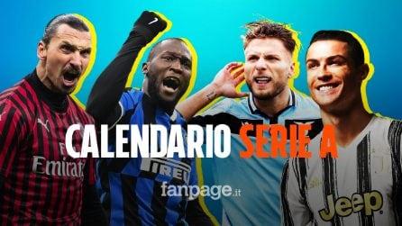 Svelato il calendario Serie A: ecco le date di tutti i big match