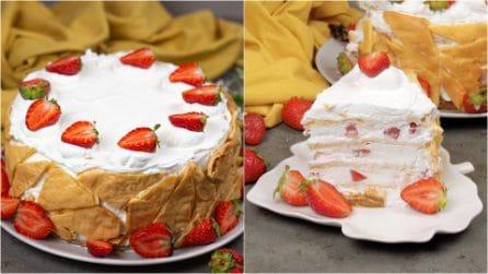 Flockentorte alle fragole: il dolce bello e buono perfetto per un compleanno speciale!