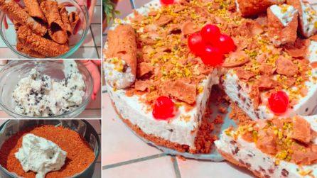 Cheesecake al cannolo: la ricetta del dessert fresco e goloso