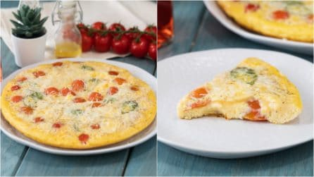 Cherry tomato omelette: a quick and tasty recipe to try!