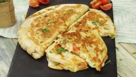 Tortilla ripiena di formaggio: la ricetta semplice per un aperitivo o un antipasto sfizioso!