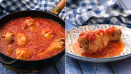 Chicken legs with tomato sauce: the secret to make them tender and juicy!