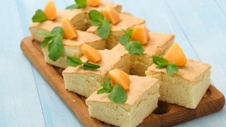 Torta frullata al melone: il trucchetto per ottenere una torta saporita in pochi passaggi!