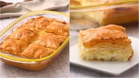 Galaktoboureko: il famoso dolce greco di pasta fillo che non vedrete l'ora di provare!