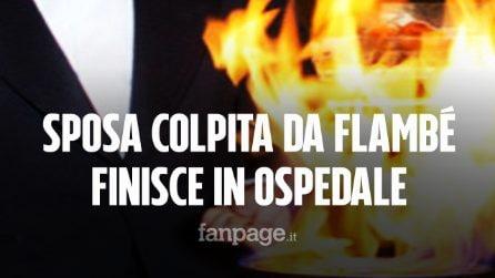 Palermo, sposa colpita da fiammata del flambé finisce in ospedale: ustioni su viso e corpo
