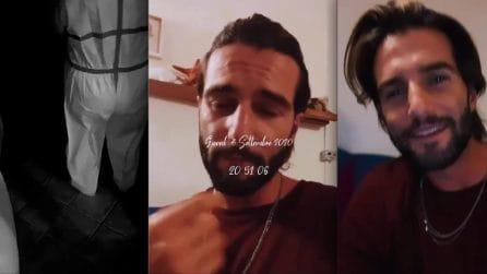 """Andrea Melchiorre pubblica il tampone in diretta: """"C'ho le lacrime"""""""