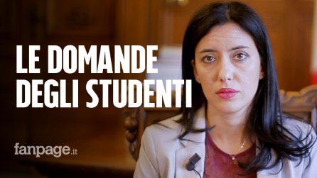 Scuola, la ministra Azzolina risponde alle domande degli studenti
