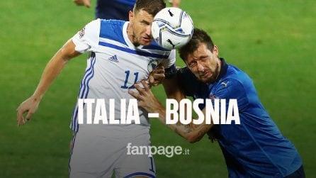 Nations League, l'Italia pareggia contro la Bosnia: 1-1 al Franchi con Dzeko e Sensi