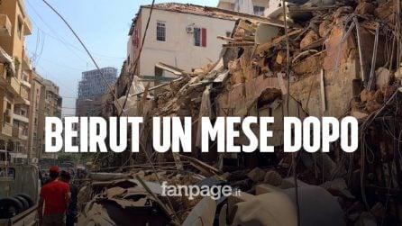 """Beirut, un mese dopo l'esplosione: """"I negozi riaprono, ma la devastazione è ancora evidente"""""""