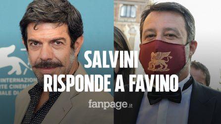 Venezia 2020, la risposta di Matteo Salvini a Pierfrancesco Favino