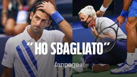 """US Open, le scuse di Djokovic: """"Non volevo, ho sbagliato. Mi sento triste e vuoto"""""""