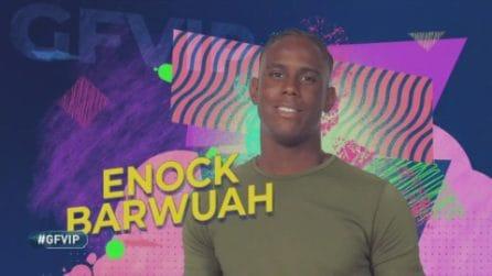 La clip di presentazione di Enock Barwuah al GF Vip 2020
