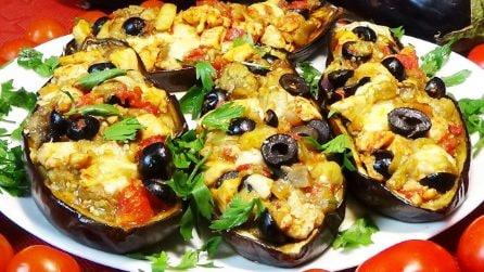 Barchette di melanzane: la ricetta veloce per un secondo piatto saporito