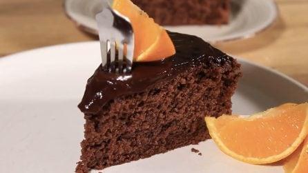 Torta arancia e cioccolato: la ricetta per averla alta, soffice e golosa