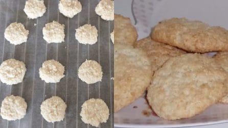 Biscotti morbidi al cocco: il dessert goloso con 3 ingredienti