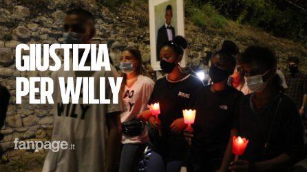 """Omicidio Colleferro, migliaia di fiaccole per Willy: """"Vogliamo giustizia non vendetta"""""""