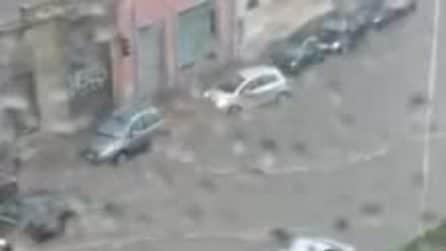 Tempesta su Cagliari, le strade completamente allagate
