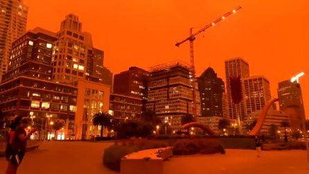 California, scenario apocalittico: il cielo si tinge di arancione