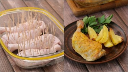 Toothpick chicken legs: an incredible hack to make the best juicy chicken!
