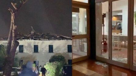 Violenta tromba d'aria a Rosignano: danni a ristorante e abitazioni