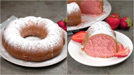 Strawberry cake: soft, moist and ready in 3 steps!