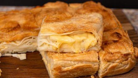 Torta salata ripiena di formaggio: la ricetta facile e ideale per una cena piena di gusto!
