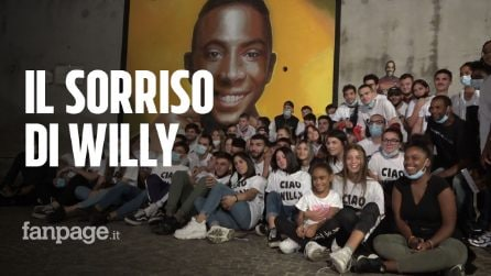 """Omicidio Colleferro, un murales dedicato a Willy dagli amici: """"Sarà sempre con noi"""""""