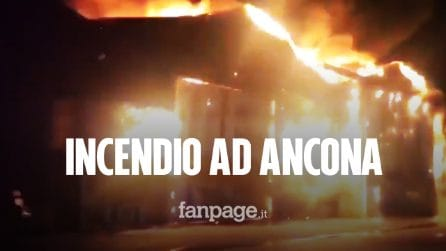 """Vasto incendio al porto di Ancona. Il Comune: """"State a casa, chiudete le finestre"""""""