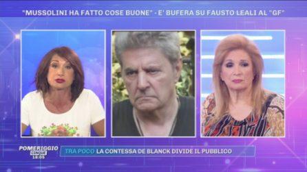 Iva Zanicchi difende Fausto Leali al GfVip, nella bufera per le parole su Mussolini