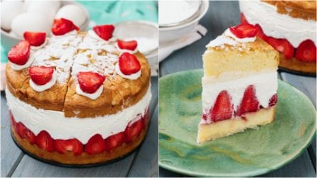 Strawberry cake: a beautiful cake perfect for any occasion!