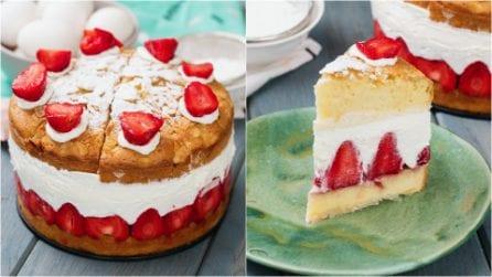 Torta cremosa alle fragole: un dolce facile da preparare e dal risultato sorprendente!